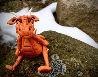 Polymer Clay Dragon 'Snark' - Limited Edition Handmade Collectible