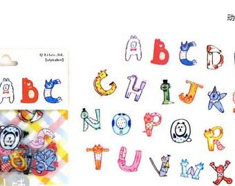 animal alphabet stickers - moji moji sticker