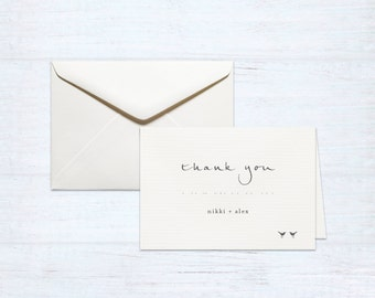 Thank You Cards – Love Birds