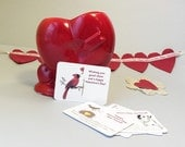 Valentine cards for kids and adults. Friend valentine cards. 6 Mini valentines with optional mailing envelopes.