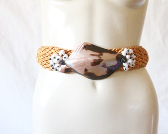S A L E seashell rope belt