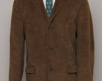 1960s men's brown corduroy blazer/ 60s men's brown corduroy blazer/ Gentry