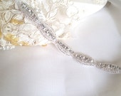thin crystal trim • rhinestone trimming • bridal sash trim•  diy wedding trim