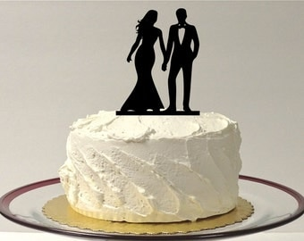 MADE In USA, Wedding Cake Topper Silhouette Classic Style Cake Topper Bride and Groom Wedding Cake Topper Bride Perfect Topper Wedding Cake