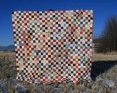 Life as Quilt Signature Quilt Red White Blue Green Multi Prints