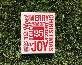 Christmas Decor ~ READY TO SHIP ~ Christmas Decoration ~ Christmas Mantle ~ Hostess Gift ~ Merry Christmas Sign ~ Believe Christmas Sign