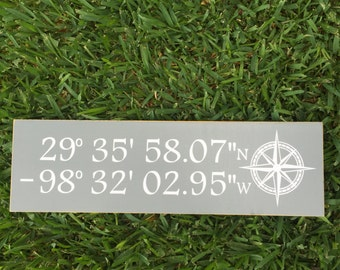 Latitude Longitude~ Home Coordinates Sign~ New Home Gift~ Moving Away~ GPS Coordinates Sign~ Address Sign~ Moving Gift~ Nautical Sign