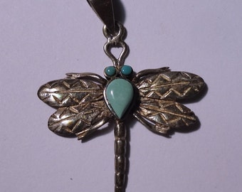 Sterling Silver Dragonfly Pendant 925