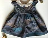 The Winnie Dress - Art Gallery Print Baby and Girls Cotton Collar Dress