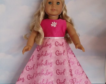 18 inch doll clothes - #215  Birthday Girl Gown handmade to fit the American Girl Doll - FREE SHIPPING