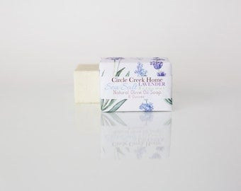 Sea Salt Lavender with Bergamot Soap - 4 Bar Collection Handmade Soap - FREE Shipping