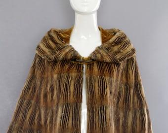 1900s EDWARDIAN CHIPMUNK fur unusual capelet cape poncho rare curiosity bizarre historical fashion costume victorian vintage