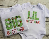 Brother Sister, Big Little Shirt, Personalized with Name, Totally Custom, Applique, Embroidered