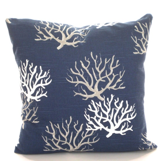 Throw Pillow Covers Nautical : Navy Blue Nautical Throw Pillow Covers Cushions Premier Navy