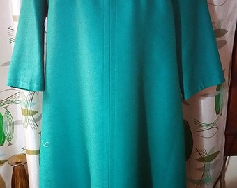Vintage Plus Sized Mod Teal Green Lane Bryant Party Dress