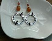 F*ck Cancer Earrings, Brown F*ck Cancer Hoops Sterling Silver Earrings, Light Brown Cancer Earrings, Silver F*ck Cancer Earrings