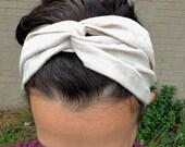 Hair scarf, Natural Linen, turban headband, boho headband, head scarf, head scarves for women, hair wrap, all natural, vegan accessories
