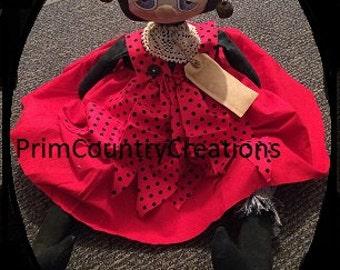 Handmade Primitive Ladybug Doll