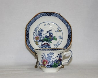 Antique Booths Silicon China Tea Cup and Saucer - Netherlands - Item 1218