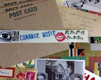 10 Folk City Collage Poste: Fluxkit / Mail Art Kits