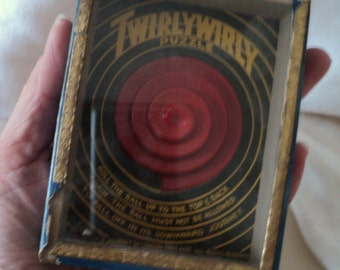 Antique R. Journet Twirlywirly Dexterity Puzzle. London, England.
