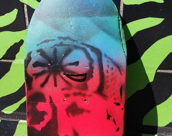 SALE Ready 2 Ship Mr. Miyagi the Karate Kid street art upcycled skate deck painting original stencil and spray paint art