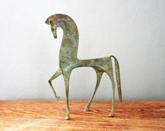 Vintage Frederick Weinberg-Style Metal Etruscan Horse