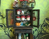 Layaway Available Dollhouse Miniature Witch or Fairy Kitchen Cabinet