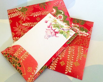 Gift Enclosure, Gift Tag, Mini Cards, Envelopes, Japanese Paper, Set of 10