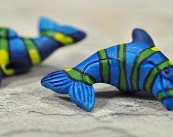 Ceramic Dolphin, drilled, 11x16 - #500