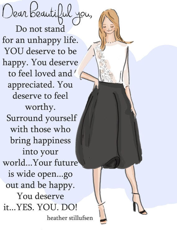Do Not Stand For An Unhappy Life Cards Art For Women Art