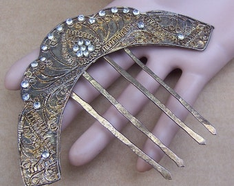 Vintage Indonesian hair pin hair pick hair accessory headpiece headdress hair jewelry tribal fusion belly dance AS FOUND (ABI)