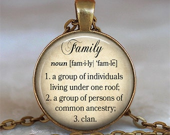 Family dictionary necklace, Family necklace, dictionary pendant, dictionary word pendant, mother's day gift sister gift  key chain