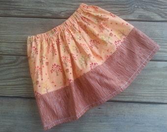 RTS Sizes 4 & 6 Girls Apple Tree Skirt