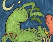 Goblin Drawing (Inktober/Drawlloween 2015)