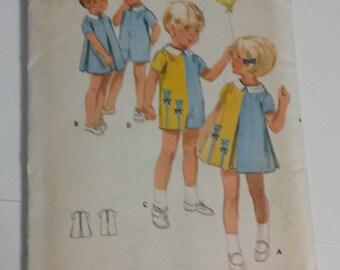 Vintage Butterick Pattern # 4697, Size 2, A-line dress with inverted pleats, Jumpsuit