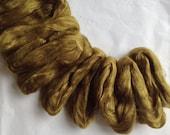 OLIVE GREEN Mulberry Silk & superfine 18 mic Merino Wool Blend Colour no. 727