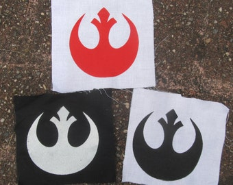 Rebel Alliance Patch - Star Wars Patches, Symbol, New Hope, Luke Skywalker, Princess Leia Organa, Han Solo, X-Wing, Empire, punk patch