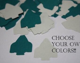 Choose your Colors! Rocket Ship Die Cut Confetti Table Decor 200 pieces