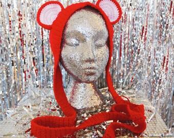 Red Hot Bear Ears Headband