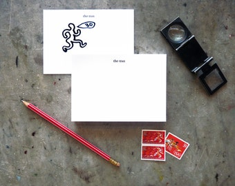 18 pt Pegasus Hand-Set Personalized Letterpress Printed Note Cards