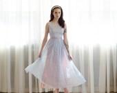 60s Prom Dress - Vintage 1960s Party Dress - Bolla Bolla Dress