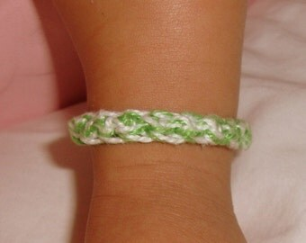 Crochet Anklet - Double Strand Solids