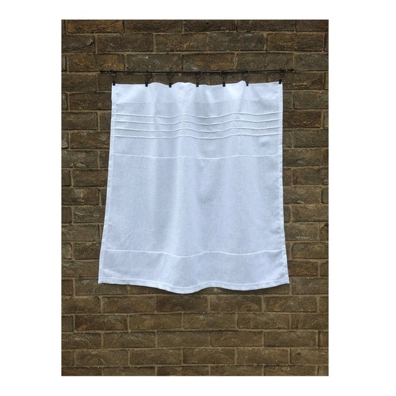 French Cafe Curtain Opaque Linen Kitchen Curtain Bathroom