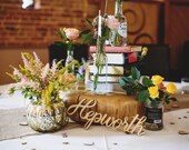 Custom Wooden Word Cutouts - Laser Cut Wood Words for Wedding or Party Table Decor (Item - LCC100)