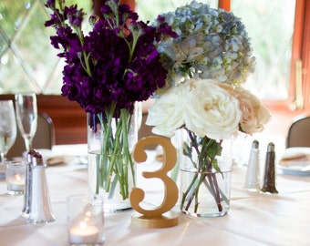 Wedding Table Numbers for Wedding Centerpiece or Events Wedding Decor for Wedding Table Numbers, Table Signs Wedding Signs (Item - NUM125)