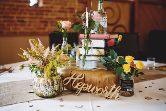 Custom wedding sign wooden word cutouts laser cut