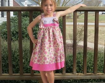 Girls Knot Dress, Easter Dress, Toddler Easter Dress, Girls Easter Dress, Spring Knot Dress, Fall Knot Dress
