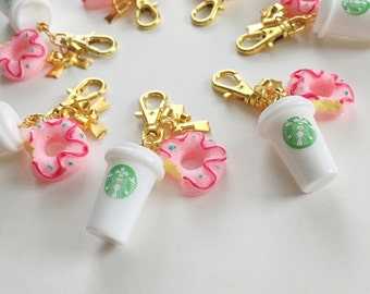 coffee & donuts zipper charm [a marine parents exclusive!]