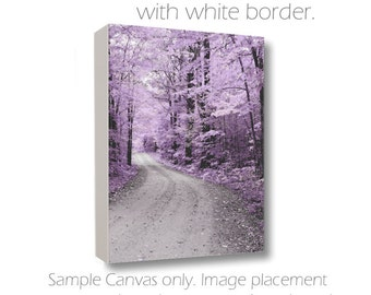 Surreal Dreamy Photography Nature in Lavender & Gray Fine Art Print or Canvas Enchanted Forest Woodland Scene Gravel Road Country Drive